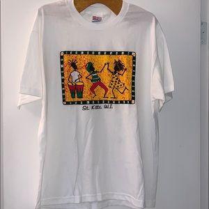 Vintage Men's,St Kitts great design shirt